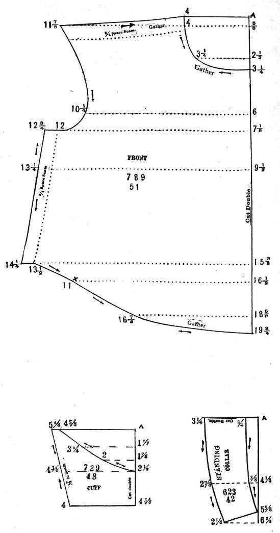 Shirt Waist Pattern 1903 (Part II) | Sewing | Pinterest | Patrones ...