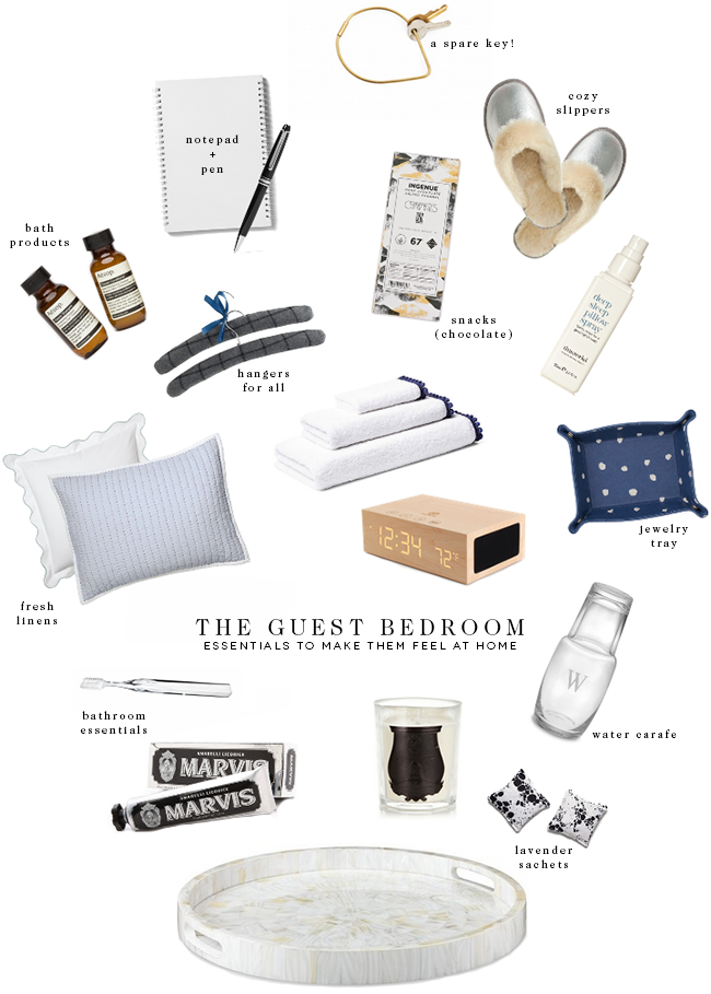 guest bedroom essentials to make them feel at home | on the blog