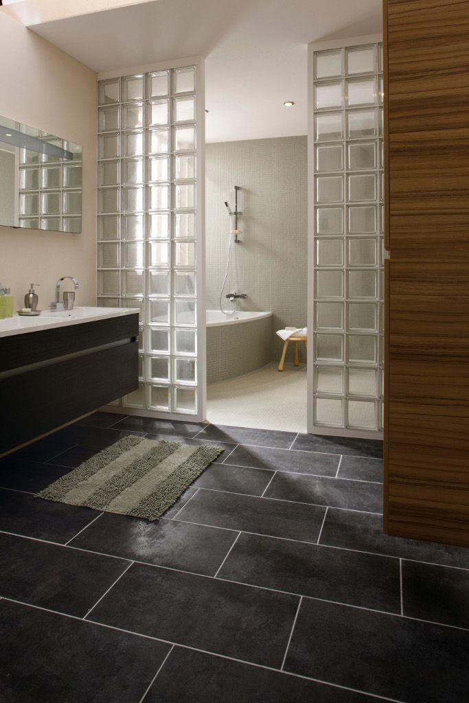 salle de bains craquez pour les briques de verre la brique briques et dossier. Black Bedroom Furniture Sets. Home Design Ideas