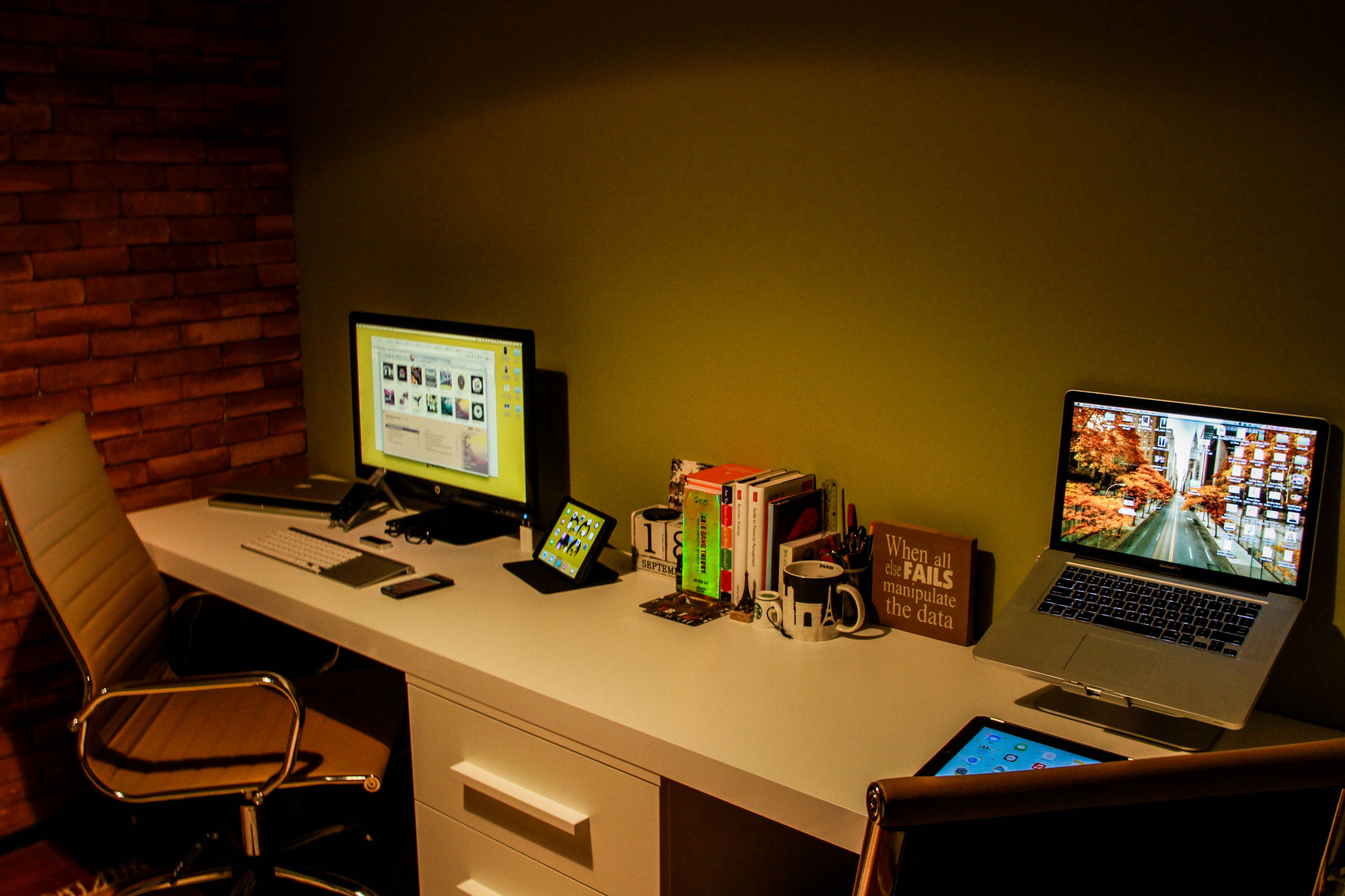 This is my home office still working on getting it to look better.