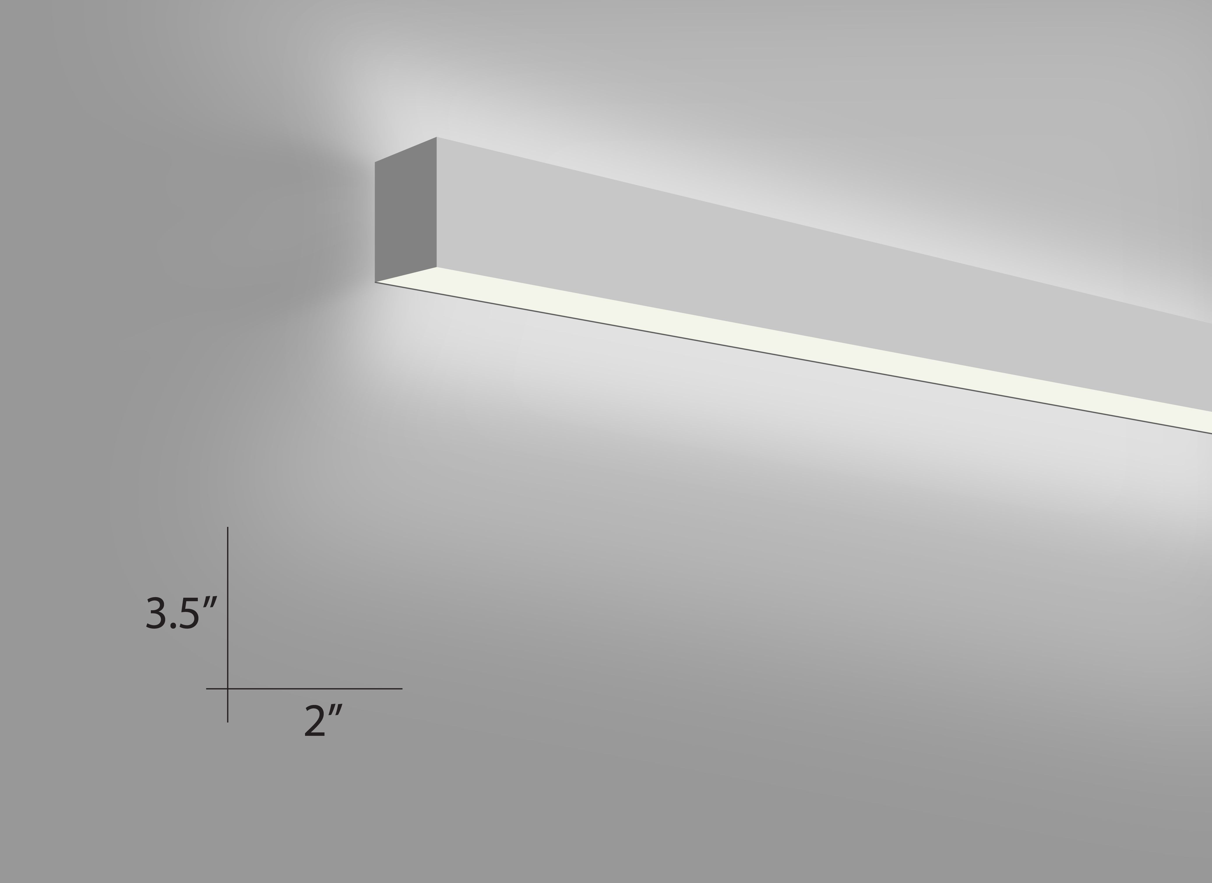 Alcon Lighting 12100 20 W Continuum 20 Architectural Direct And Indirect Led Linear Wall Mount Linear Light Fixture Linear Lighting Indoor Wall Light Fixtures