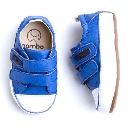 8aec9f0d3 Tenis Gambo Baby com Velcro Azul Bic    laranjeiras kids