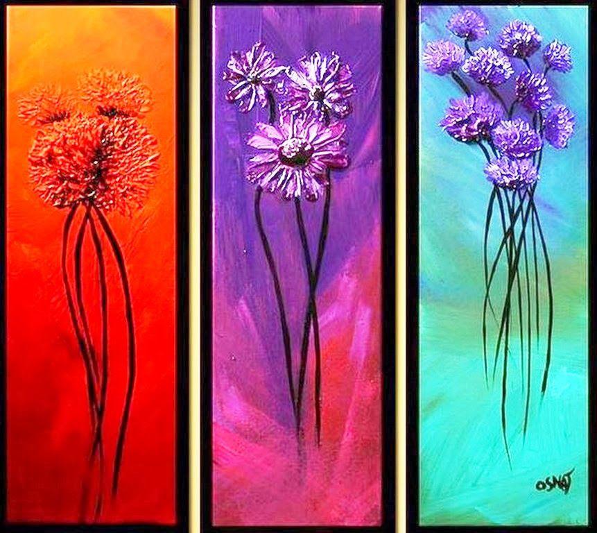 Cuadros tripticos pintados al oleo cuadros pinterest - Bimago cuadros modernos ...
