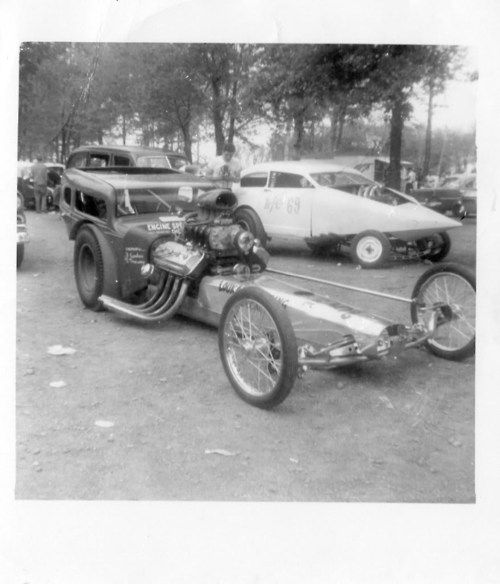 Photos Of Dick Brannan Mustang Drag Cars: What The Hell Is That In The Right Background?? Vintage
