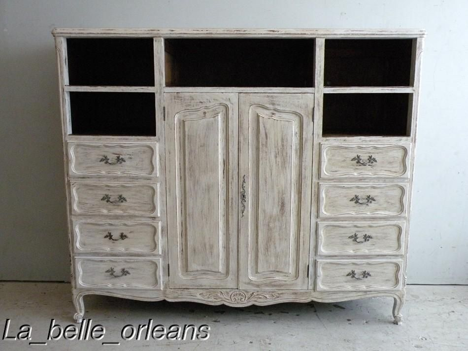 shabby chic entertainment center shaby chic french. Black Bedroom Furniture Sets. Home Design Ideas