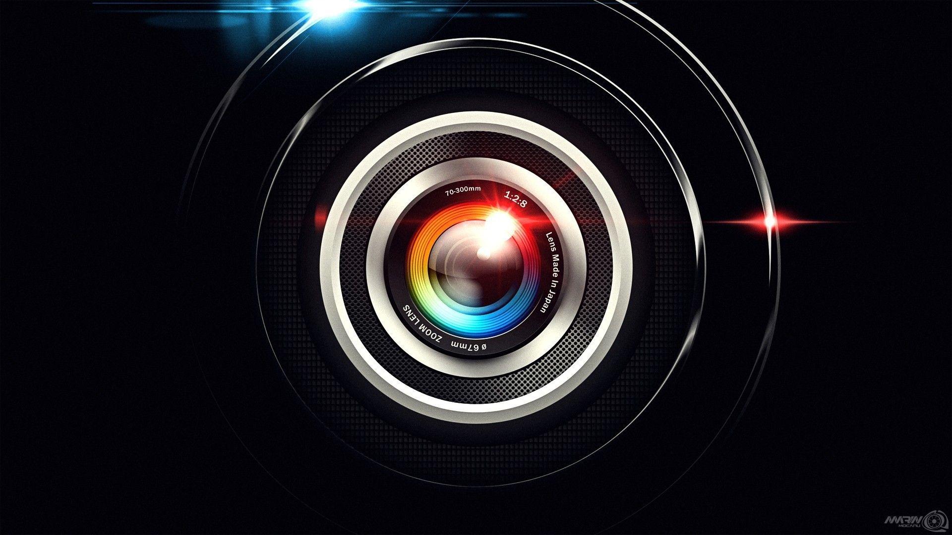Camera lens high tech flare technic wallpaper (75402