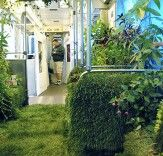 A Mobile Garden as part of the Art on Track festival. Chicago Subway