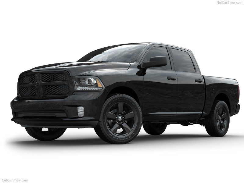 The New Black Express Takes Ram S Aggressive Good Looks To An All New Sinister Level By Blackening Out The Entire Truck Dodge Ram 1500 Dodge Ram Ram 1500