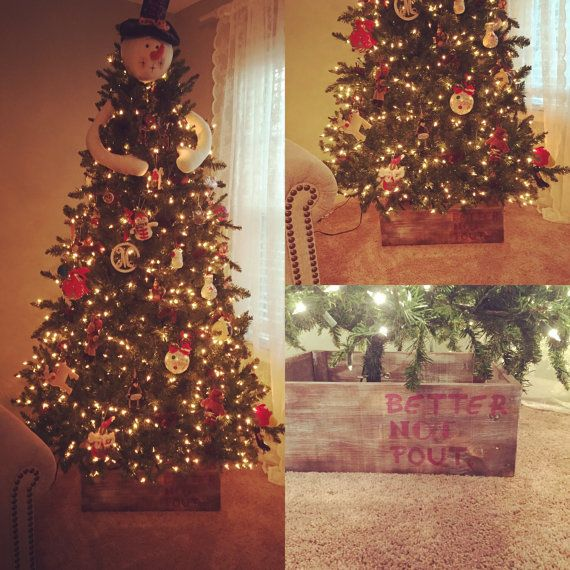 Love This Christmas Tree Skirt Use This Rustic Box To Skirt Your Christmas Tree Adds That Special Christmas Tree Christmas Tree Box Christmas Stocking Holders