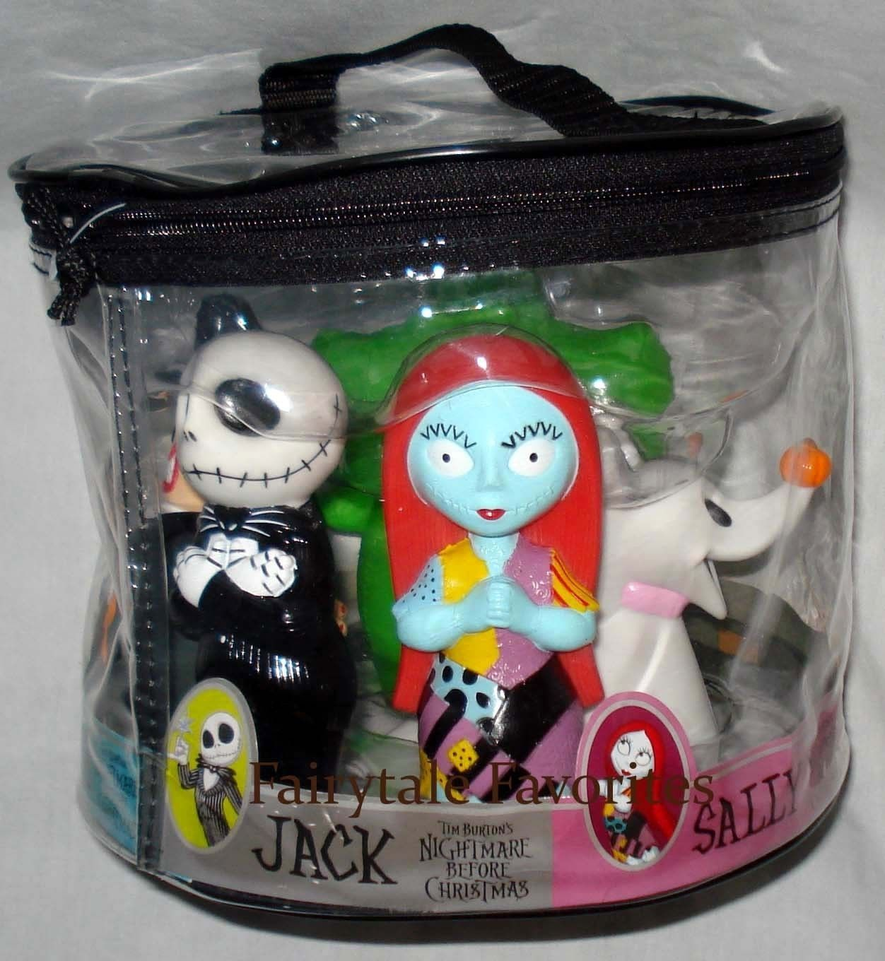Jack skellington bathroom set - Tim Burton S Nightmare Before Christmas Bath Toy Set New Rare 5 Pieces Ebay