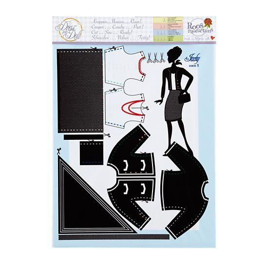 Dress Your Doll Clothing Pattern (Jackie Coco Black