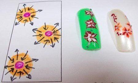 Схемы и фото дизайна ногтей иголкой