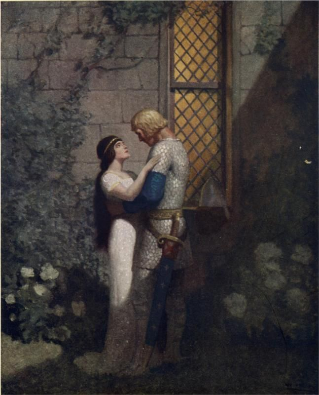 Tristram and Isolde - N.C. Wyeth - WikiPaintings.org