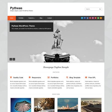 Pytheas Free Responsive Corporate/Portfolio WordPress Theme is the ...