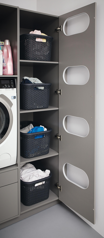 Schuller Tall Laundry Sorting Unit Wasruimtes Wasplaats Opberger Wasruimte Design