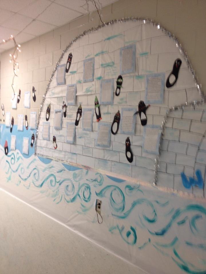 Writing Igloo Winter Wonderland School Hallway