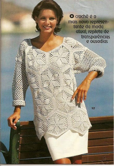 patroon voor mooie witte trui