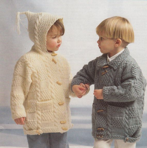 Babies pram coat,vintage pattern,orange coat,babys traditional knit,duffle coat
