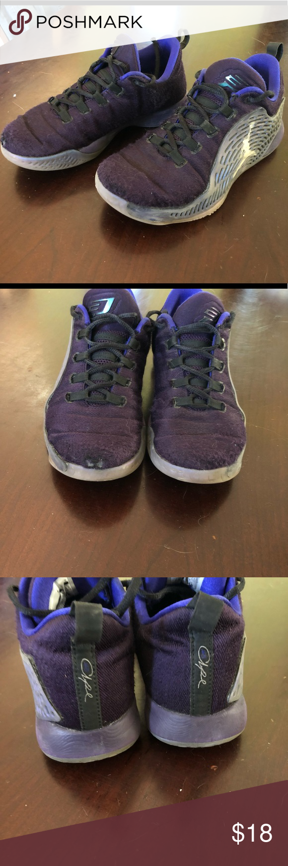 e14a7f51ef0 Jordan CP3 Basketball shoes - size 4.5 Boy s Purple Jordan Chris Paul 3  Basketball shoes. These do have signs of wear - see pics. Jordan Shoes  Sneakers