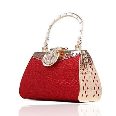 Red Shimmer Gold Womens Clutch Bag Only At Pandadeals Co Uk