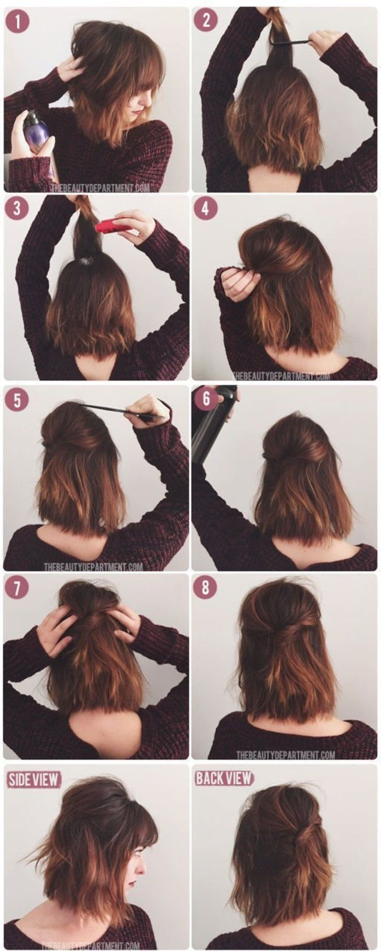 Prosta fryzura krok po kroku opart pinterest hair style hair