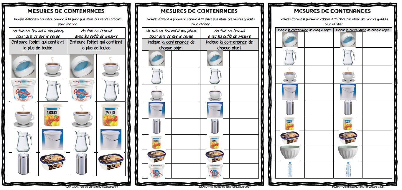 Maths Ateliers De Mesure De Contenances Cm1 Cm1 Cm2 Mesure