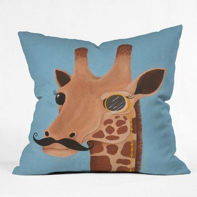 Phenomenal Deny Designs Mandy Hazell Gentleman Giraffe Throw Pillow Forskolin Free Trial Chair Design Images Forskolin Free Trialorg