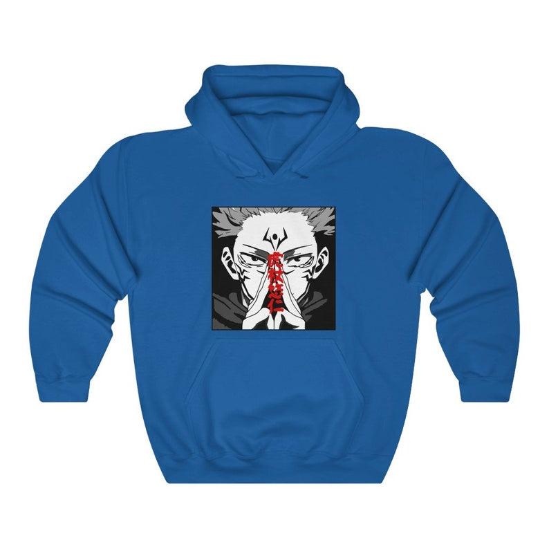 Jujutsu Kaisen Hoodie Satoru Gojo Yuji Itadori Sukuna Etsy In 2021 Hoodies Sweatshirts Anime Sweatshirt