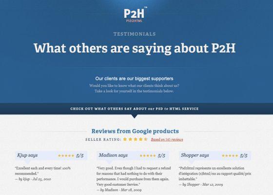 testimonials page design inspiration web development design