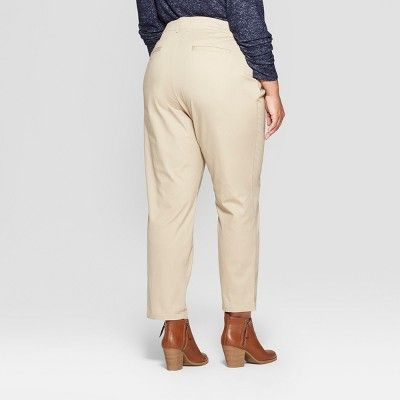 f1f2542df9191 Women's Plus Size Chino Pants - Ava & Viv Khaki (Green) 24W | Products