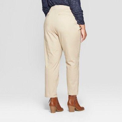 c5a43103f7d9 Women s Plus Size Chino Pants - Ava   Viv Khaki (Green) 24W