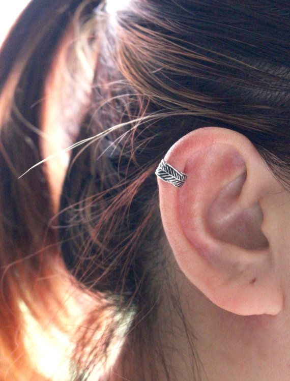 Leaf Ear Cuff Earring, Sterling Silver Ear Cuff, Leaf ear cuff, Cartilage Cuff, Silver Ear Cuff, Ear cuffs no piercing, Ear Cuff Earring