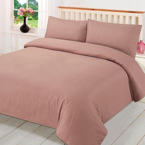 Tesco Direct Dreamscene Plain Dyed Duvet Cover Quilt With Pillowcase Single Vintage Bedding Set Designer Bed Sheets Bedding Sets