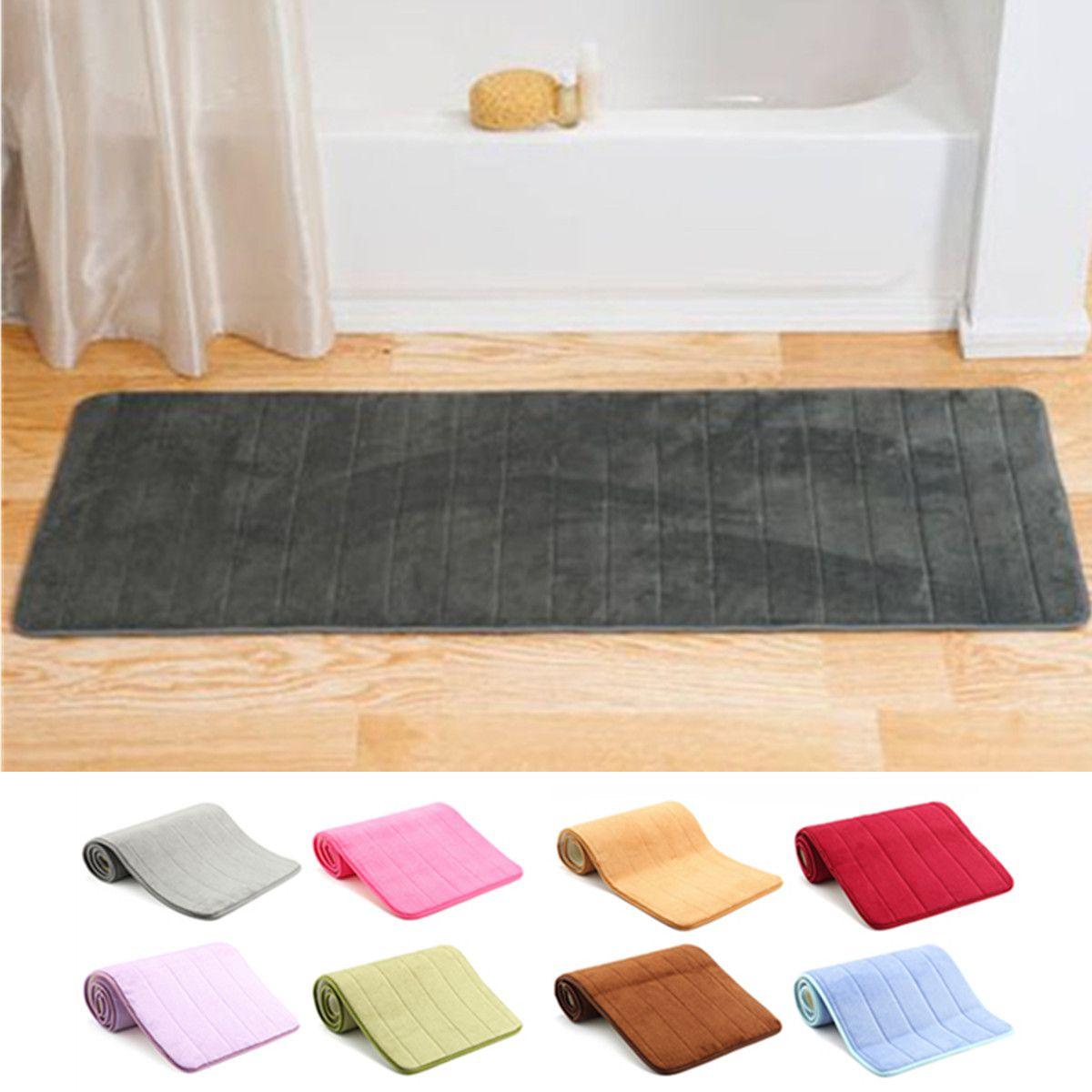 Soft Memory Foam Non Slip Doormat Bathroom Bedroom Kitchen Floor Rug Indoor Outdoor Mat Walmart Com Bedroom Flooring Shower Floor Floor Rugs