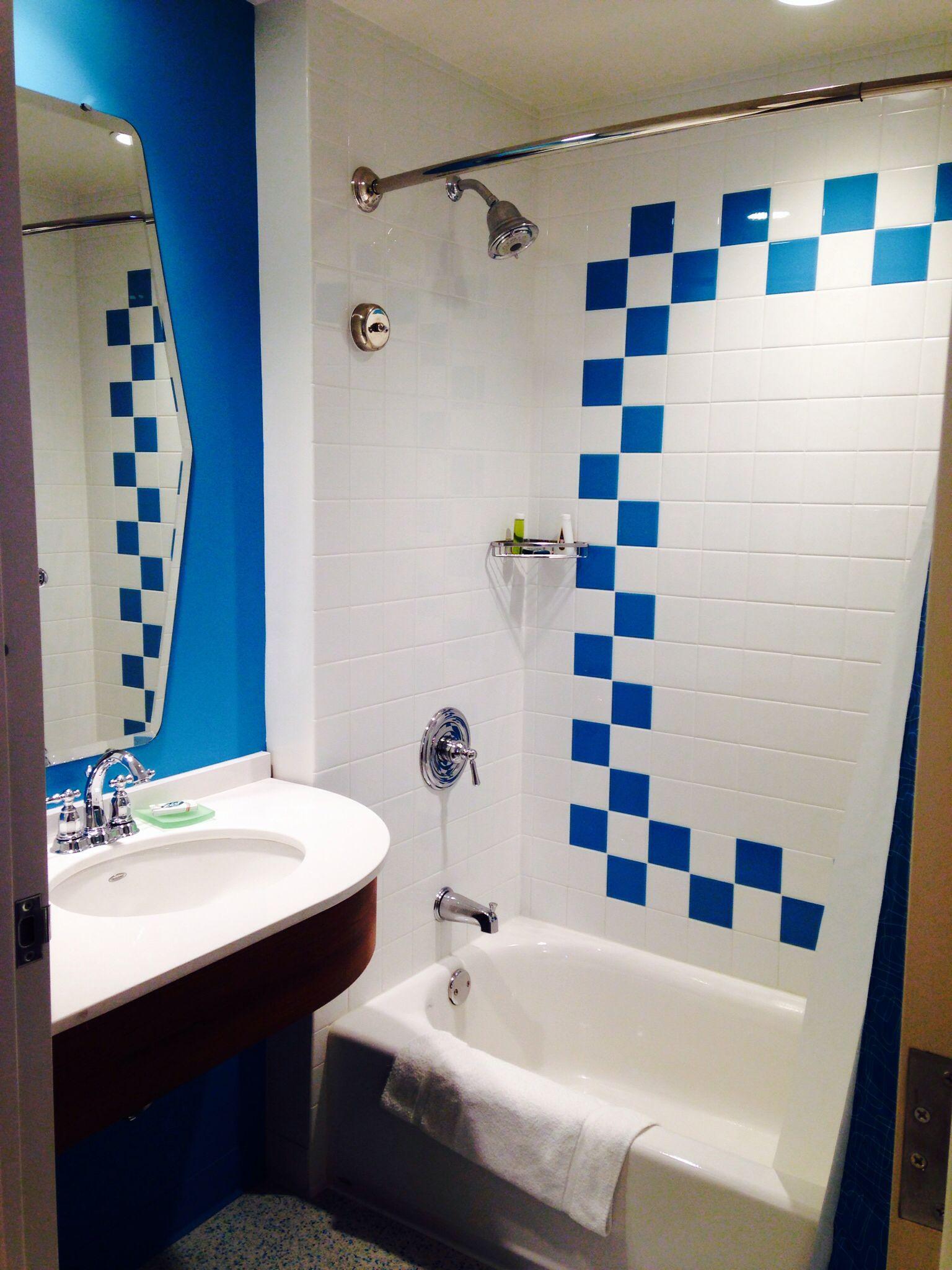 Retro tile in suite bath - Universal Cabana Bay Beach Resort ...