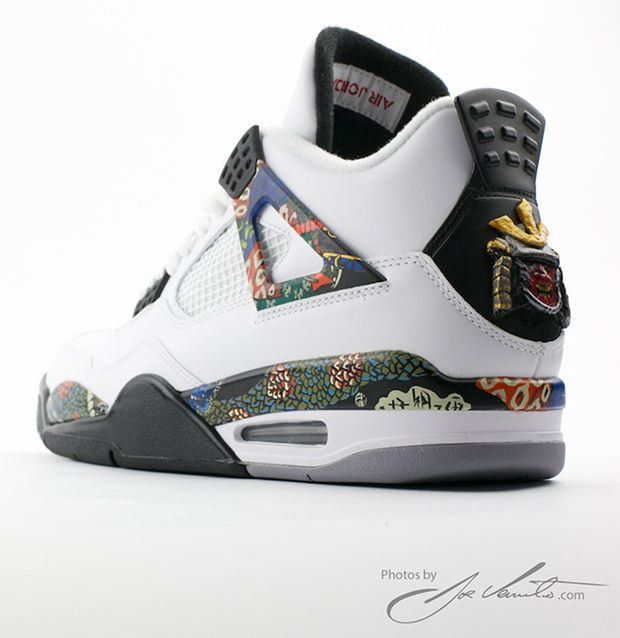 the best attitude ea513 1a93d Air Jordan IV 4 Samourai Custom by El Cappy