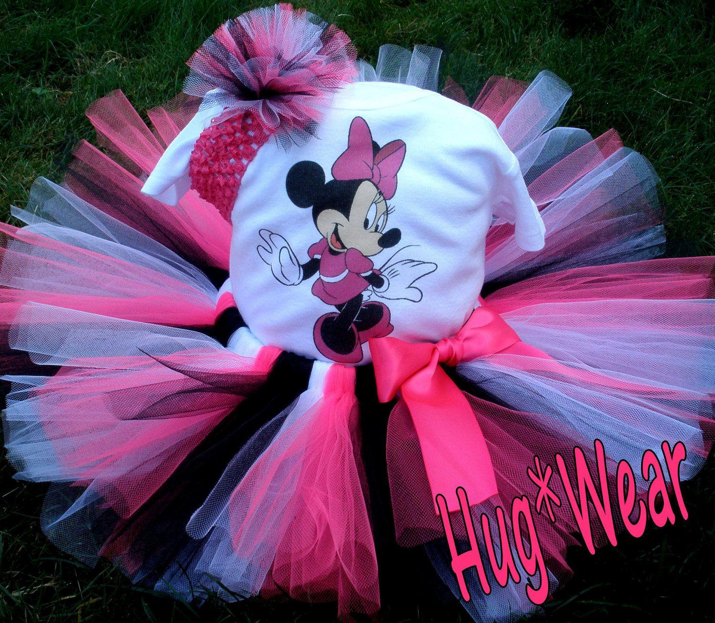 Custom Birthday Minnie Mouse tutu 12m 18m 24m 2t 3t 4t 5t. $39.95, via Etsy.