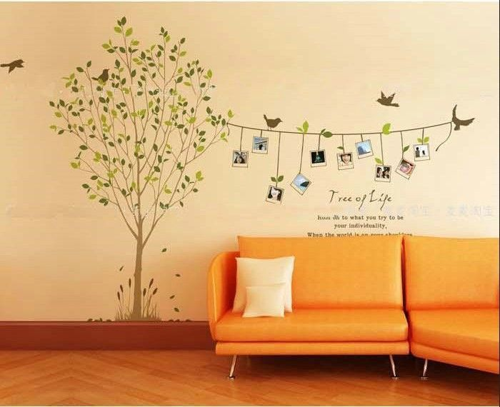 Free shipping Family Tree Bird Photo Frame Wall Quotes, Wall ...