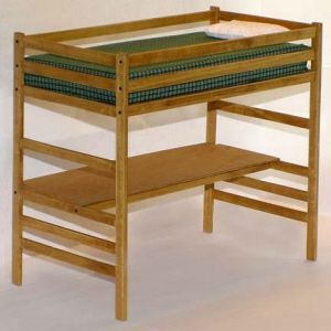 Children S Twin Loft Bed With Desk Woodworking Plans Ebay