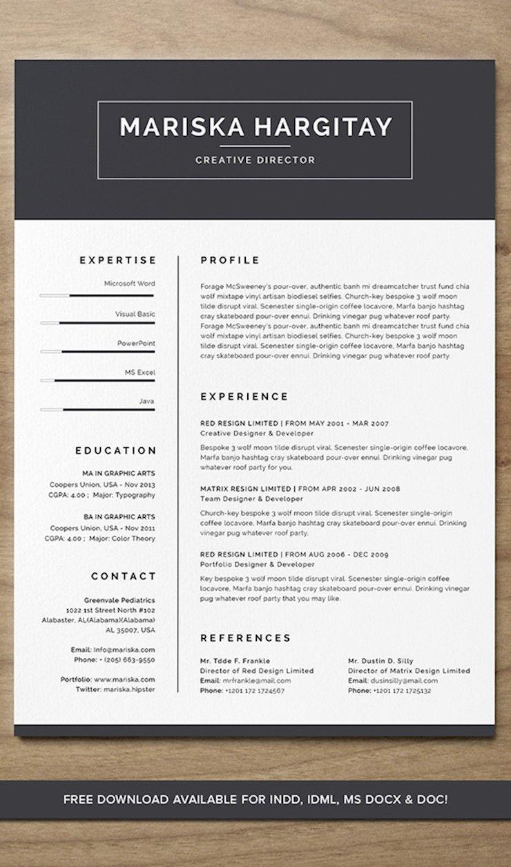43 Beautiful CV Templates To Land a Job Resume template