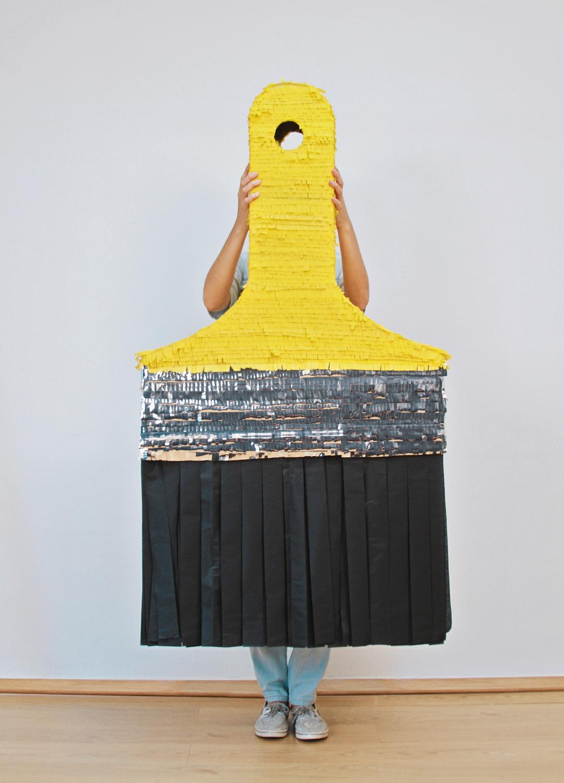 paint brush piñata by hidden highlights art party pinterest