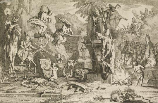 Les Sabbats, 1698-1722 (Etching & engraving) ~ by Claude Gillot
