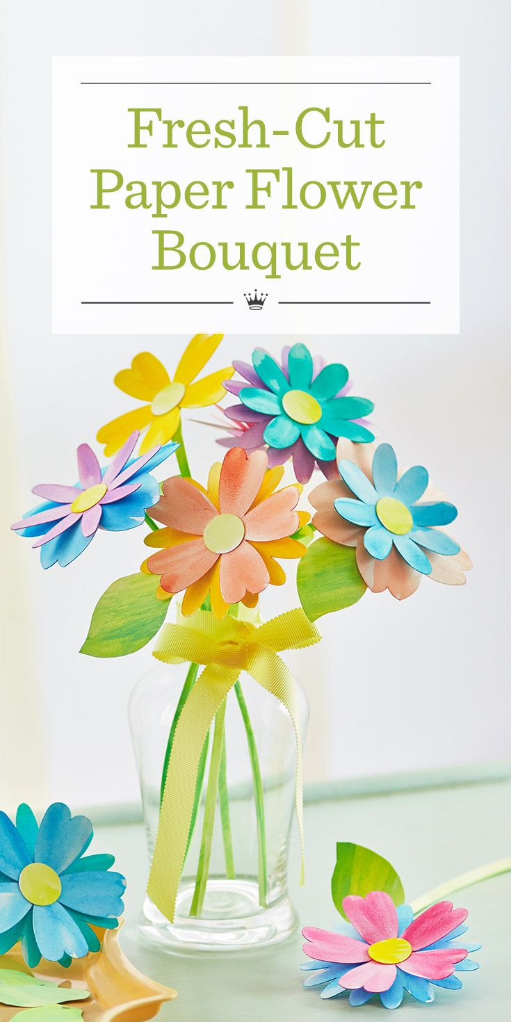 Paper flower bouquet cut paper easy paper crafts and flower bouquets paper flower bouquet izmirmasajfo