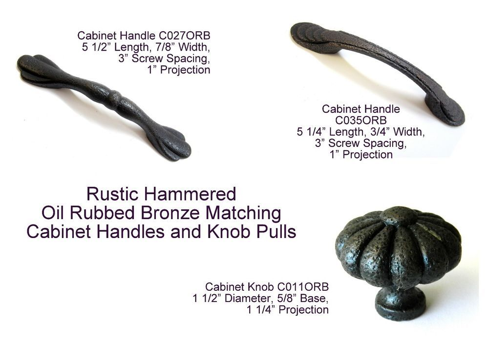"""10 Pack Ancient Treasures C027ORB Oil-Rubbed Bronze 3/""""cc Cabinet Handle Pulls"""
