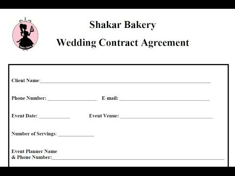 How To Draft A Wedding Cake Contracts Business Basics Cake - wedding contract