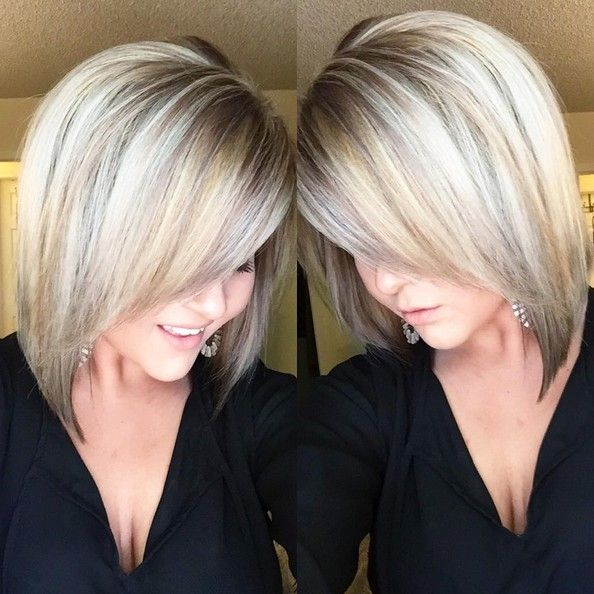 18 Hot Angled Bob Hairstyles: Shoulder Length Hair, Short ...