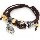http://gopinning.com/items/leaf-pendant-pandora-beads-leather-bracelet-adjustable-wirstband-brown  Adjustable #Wristband #Bracelet  #jewelry $19.99