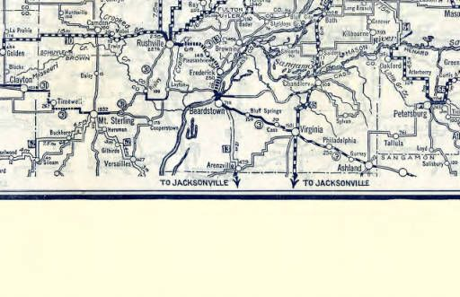 1924 Illinois Road Map :: Illinois State Highway Maps | Mapping the ...