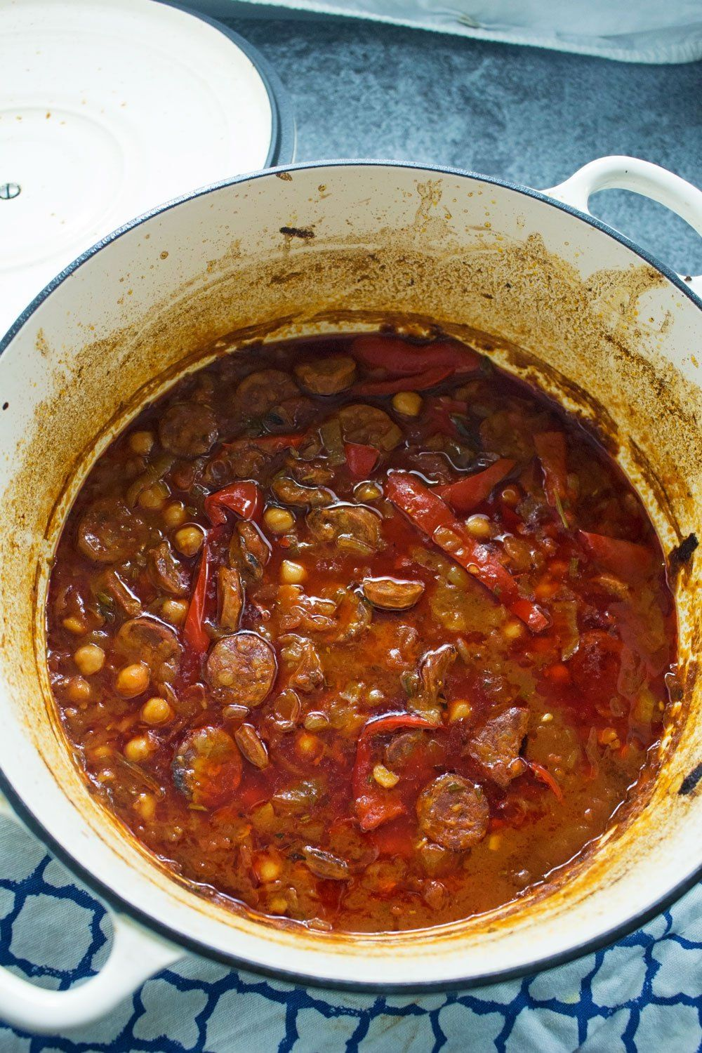 This chorizo and chickpea stew is deliciously herby and ...