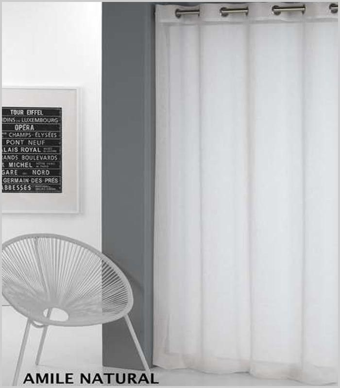 Visillo en turquesa o en blanco con ollaos en la cabecera. Medidas